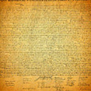 The Declaration Of Independence - America's Founding Document Art Print by Design Turnpike