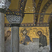 The Deesis Mosaic At Hagia Sophia Art Print