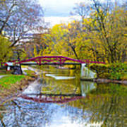 The Delaware Canal Near New Hope Pa In Autumn Art Print