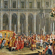 The Departure Of Alois Thomas Von Harrach, Viceroy Of Naples 1669-1742 From The Palazzo Reale Di Art Print