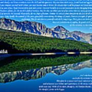 The Desiderata And Lake Sherburne Art Print
