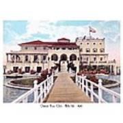 The Detroit Boat Club - Belle Isle - 1910 Art Print