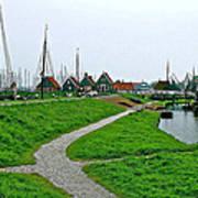 The Dike In Enkhuizen-netherlands Art Print