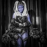 The Diva Blue Art Print