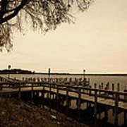 The Docks On Lake Minnetonka Art Print