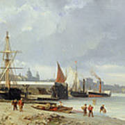 The Docks On The Bank At Greenwich  Art Print