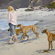 The Dog Walker Art Print