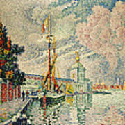 The Dogana Art Print by Paul Signac