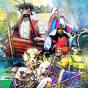 The Dogs Parade In New Orleans Art Print