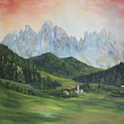The Dolomites Italy Art Print by Jean Walker