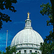 The Dome Of The Wisconsin State Capitol Art Print