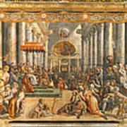 The Donation Of Rome. Art Print