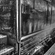 The Door Of Steam Train Art Print