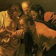 The Doubting Of St Thomas Art Print
