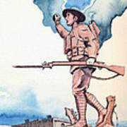 The Doughboy Stands Print by Katherine Miller
