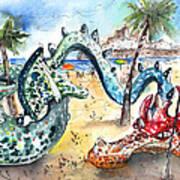 The Dragon From Penicosla Art Print