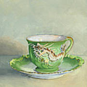 The Dragon Teacup Art Print