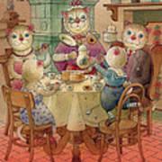 The Dream Cat 08 Art Print by Kestutis Kasparavicius