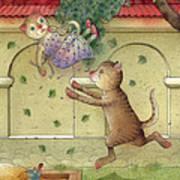 The Dream Cat 16 Art Print by Kestutis Kasparavicius