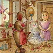 The Dream Cat 19 Art Print by Kestutis Kasparavicius