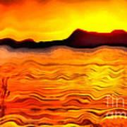 The Dream Landscape On Balaton Lake Art Print