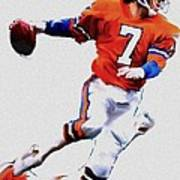 The Drive  John Elway Art Print by Iconic Images Art Gallery David Pucciarelli