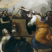The Duel Of Isabella De Carazzi And Diambra De Pottinella Art Print