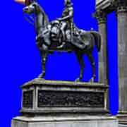 The Duke Of Wellington Goma Blue Art Print
