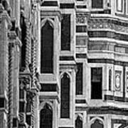 The Duomo Black And White Art Print