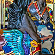 The Eagle And Horse Art Print by Colleen Kammerer