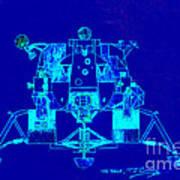 The Eagle Apollo Lunar Module In Blue Art Print