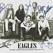 The Eagles Autographed Art Print