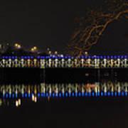 The East Falls Bridge At Night - Philadelphia Art Print