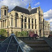 The Eglise De Saint-eustache Paris France  Art Print