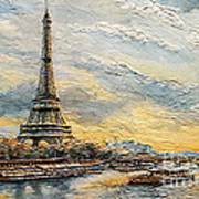 The Eiffel Tower- From The River Seine Art Print