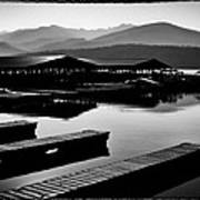 The Elkins Marina On Priest Lake Idaho Art Print
