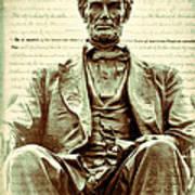 The  Emancipation Proclamation And Abraham Lincoln Art Print