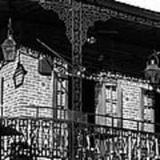 The Embers Bourbon House Restaurant In Black And White Art Print