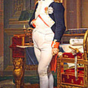 The Emperor Napoleon In His Study At The Tuileries By Jacques Louis David Art Print