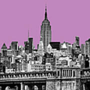 The Empire State Building Pantone African Violet Art Print