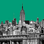 The Empire State Building Pantone Emerald Art Print