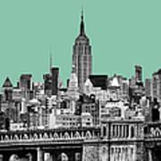 The Empire State Building Pantone Jade Art Print