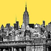 The Empire State Building Pantone Yellow Art Print by John Farnan