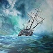 The Endurance At Sea Art Print