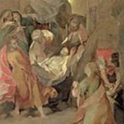 The Entombment Of Christ Print by Barocci