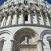 The Entrance To The Baptistery In Pisa  Art Print