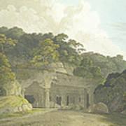 The Entrance To The Elephanta Cave Art Print