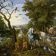The Entry Of The Animals Into Noahs Ark Art Print