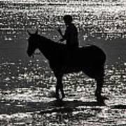 The Equestrian-silhouette Art Print