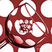 The Eternal Glass Red Art Print